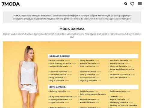 7MODA oferty but贸w, ubra艅 i dodatk贸w online