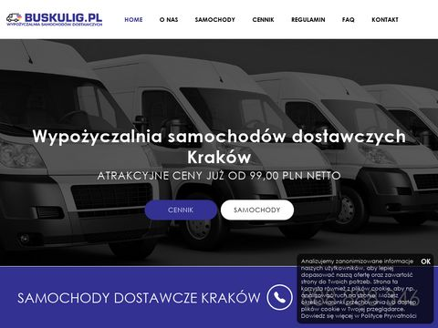 Wypo偶yczalnia samochod贸w dostawczych Krak贸w - buskulig.pl