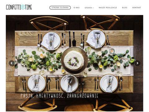 Confetti Time | Organizacja imprez | Wedding planner | Event manager -