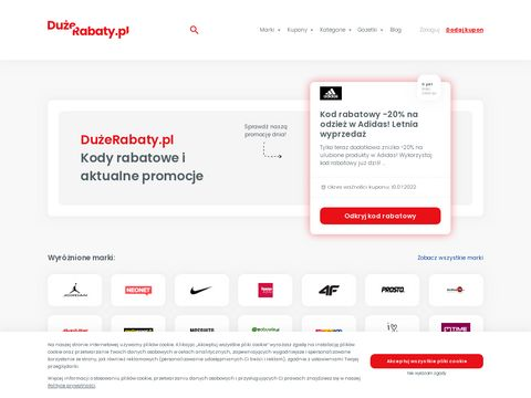 Kody rabatowe - duzerabaty.pl