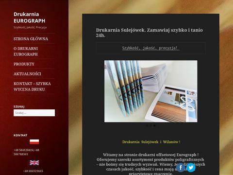 Drukarnia Eurograph - Drukarnia Sulejówek. Szybkość, jakość, precyzja.