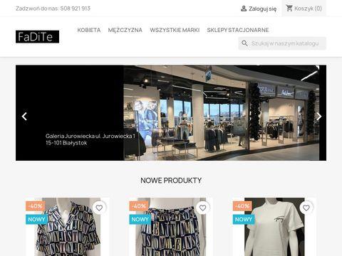 Internetowy sklep odzieżowy - fadite.pl