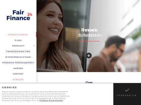 Pożyczki dla przedsiębiorców - fairfinance24.pl