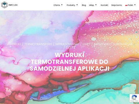 FatCube.pl: Sklep z nadrukami i naprasowankami na koszulki do zamowienia online