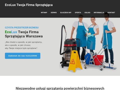 FirmaSprzatajaca.Warszawa.pl Ecolux firma sprzÄ…tajÄ…ca biura w Warszawie