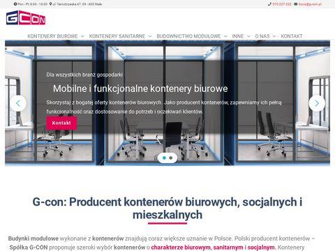 Kontenery sanitarne - G-CON Sp. z o.o.