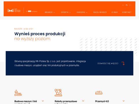 IMI-Polska, budowa maszyn, linii produkcyjnych, automatyka przemysłowa