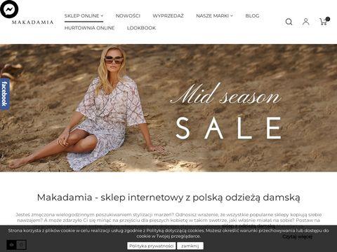 Eleganckie sukienki polskiej produkcji - Makadamia