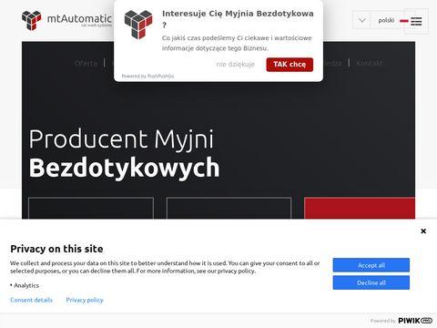 Myjnie bezdotykowe - polski producent | mtAutomatic