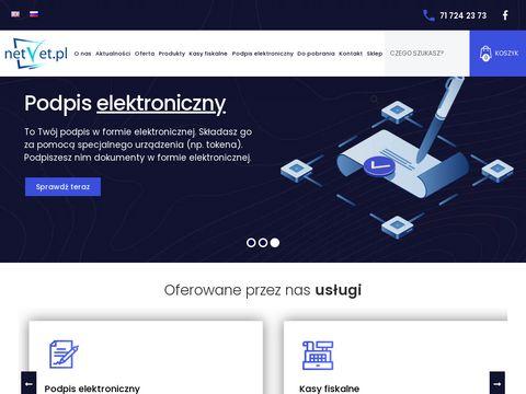 NetVet Informatyczna Obsługa Firm, Podpis Elektroniczny, Kasy Fiskalne