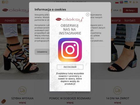 Internetowy sklep obuwniczy - oleksy.pl