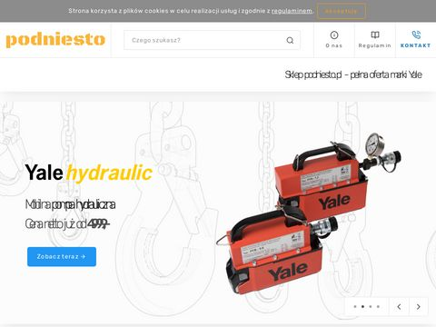 Sklep podniesto.pl - urządzenia dźwignicowe marki Yale