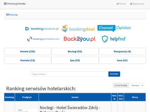 Rromocja-hotelu.pl - ranking serwisów hotelarskich