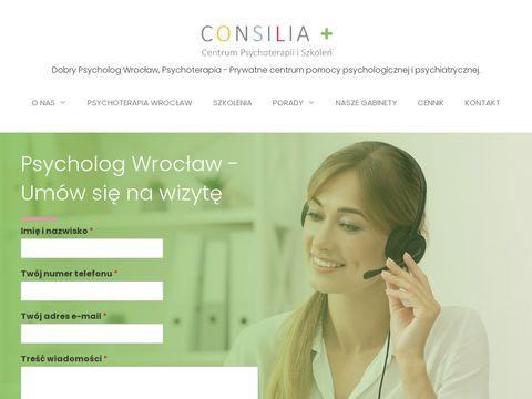 Consilia - prywatny gabinet psychoterapii z Wroc艂awia