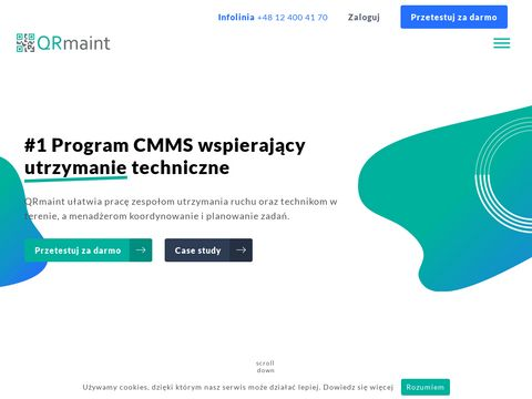 Prosty i intuicyjny system CMMS, zarz膮dzanie utrzymaniem - QRmaint