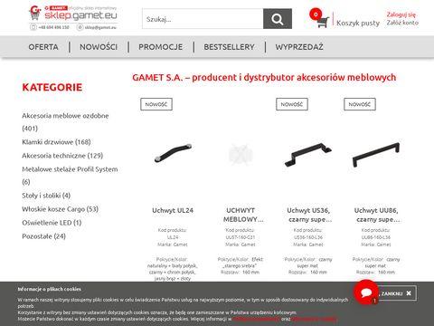 Akcesoria Meblowe GAMET S.A. - sklep internetowy i hurtownia online
