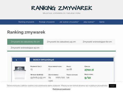 swiatzmywarek.pl - Ranking zmywarek, najlepsze zmywarki i porady jaką wybrać zmywarkę.