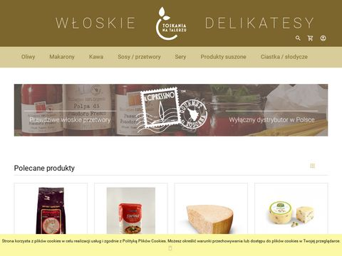 WÅ'oski sklep internetowy - ToskaniaNaTalerzu.pl