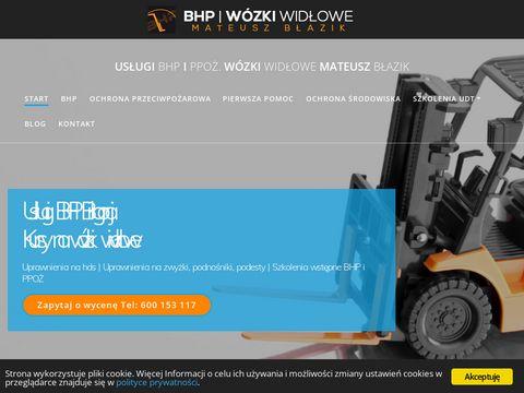 Szkolenia BHP i kursy na w贸zki wid艂owe w Bi艂goraju