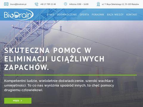 Pomiary zapachów - biodrain.pl