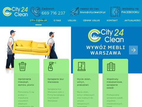 Wywóz mebli Warszawa - cityclean24.pl