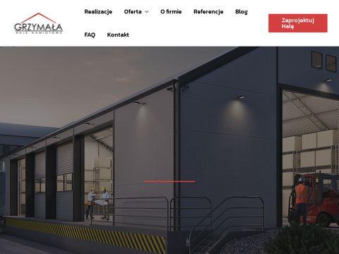 Hale namiotowe i hale magazynowe, budowa hal - Łomża, Warszawa - Grzymała