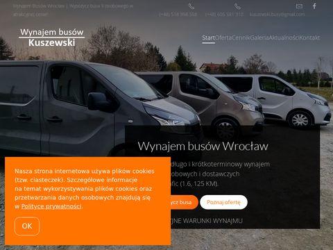 Wynajem busa Wroc艂aw Kuszewski wypo偶yczalnia bus贸w
