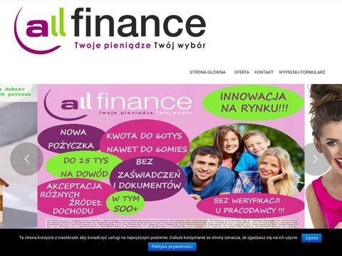ALL Finance Po偶yczki i Kredyty - Pozyczkisacz.pl