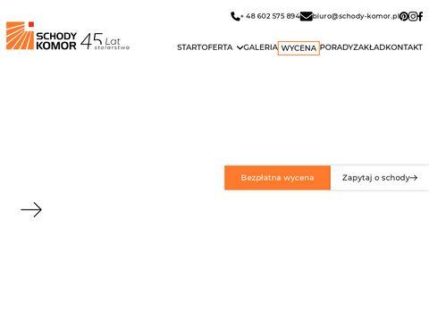 www.schody-komor.pl - schody Śląsk