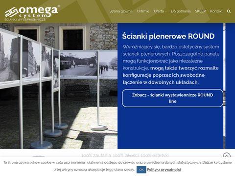 Åšcianki reklamowe Omega System - scianki.info.pl