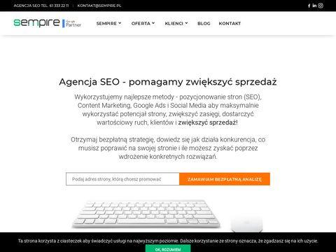 SEMPIRE - Agencja SEO / SEM SEMPIRE - Pozycjonowanie stron internetowych