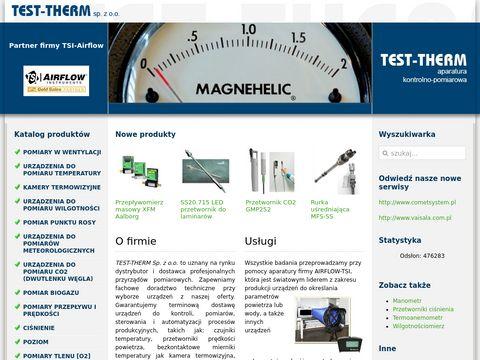 Test-Therm – aparatura kontrolno-pomiarowa