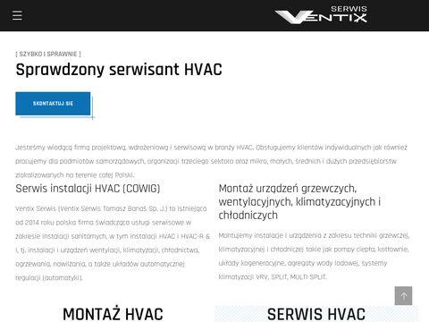 Ventix Serwis - Serwis instalacji sanitarnych (w tym HVAC)