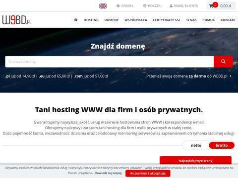 Tani hosting - webd.pl