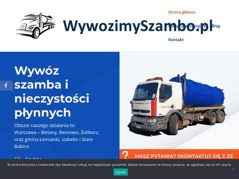 Opróżnianie i wywóz szamba Warszawa, Łomianki