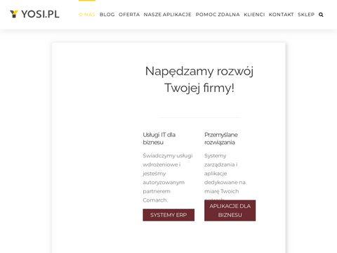 YOSI.PL - wdro偶enia system贸w ERP
