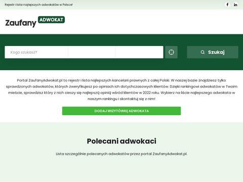Lista adwokatów na ZaufanyAdwokat.pl