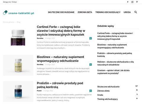 Recenzje suplement贸w diety - znane-tabletki.pl