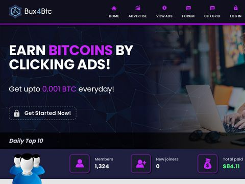 EARN BITCOINS BY CLICKING ADS!