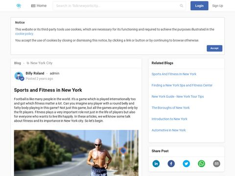 Sports and Fitness in New York