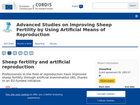 Advanced Studies on Improving Sheep Fertility by Using Artificial Means of Reproduction