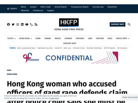 Hong Kong woman who accused officers of gang rape defends claim after police chief says she must be arrested for lying