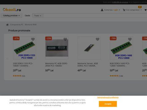 KIT Memorii KINGSTON 4GB, 2bucati= 8Gb DDR3 1333Mhz PC3-10600 - 1Rx8