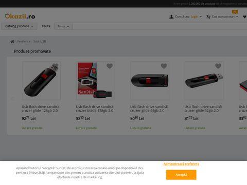 Stick memorie 128Gb Flash Drive SanDisk Cruzer USB 2.0, SDCZ50-128G-B35- NOU