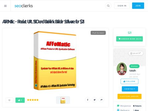 AFFoMatic - Affiliate Product URL SEO and Backlink Builder Software V1.0.1 for $21
