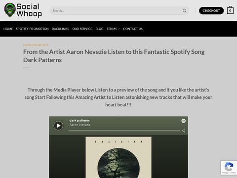 From the Artist Aaron Nevezie Listen to this Fantastic Spotify Song Dark Patterns