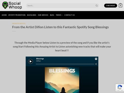 From the Artist Difion Listen to this Fantastic Spotify Song Blessings