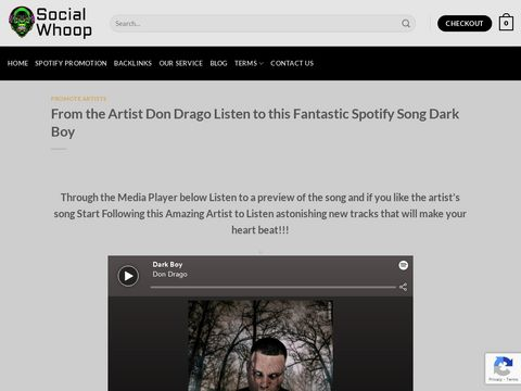 From the Artist Don Drago Listen to this Fantastic Spotify Song Dark Boy