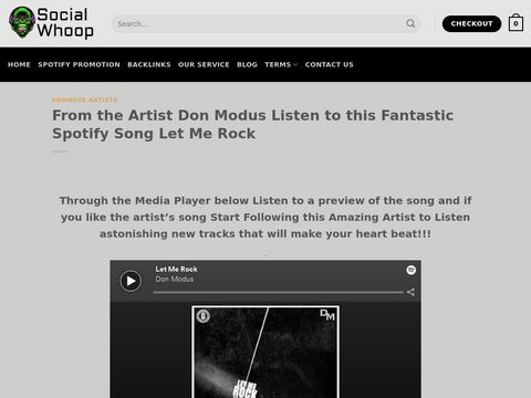 From the Artist Don Modus Listen to this Fantastic Spotify Song Let Me Rock