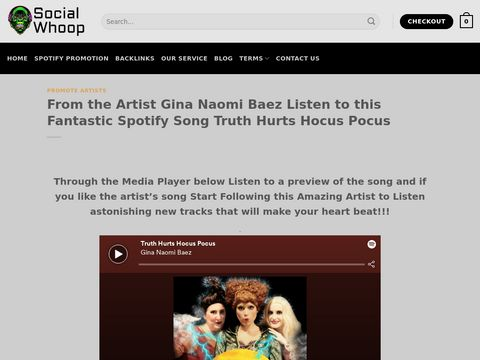 From the Artist Gina Naomi Baez Listen to this Fantastic Spotify Song Truth Hurts Hocus Pocus